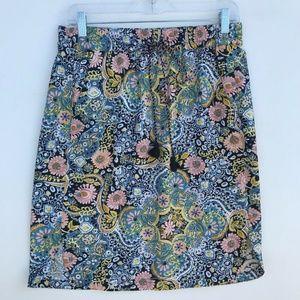 LOFT Printed Paisley Mini Straight Skirt #1357
